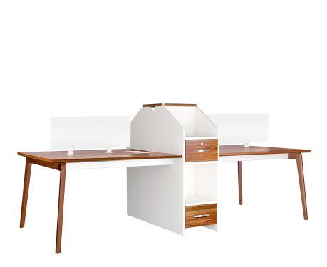 Písací stôl s pracovnými miestami pre 4 osoby EVOLUTIO B305-4