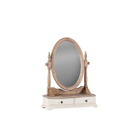 Zrkadlo SPIRO orech / ecru