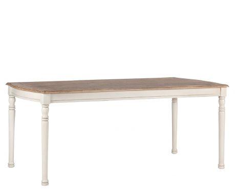 Stôl DENIS orech / ecru