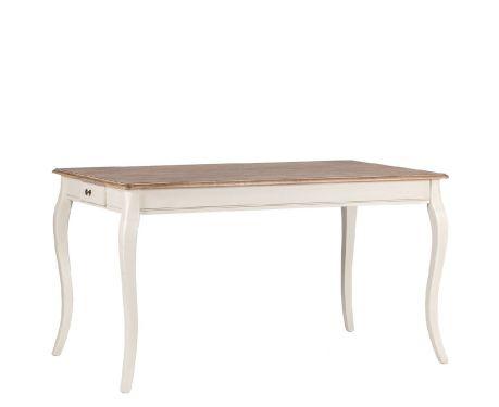Stôl LEGER orech / ecru